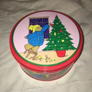 Other - 1987 paddington bear Christmas tin great condition